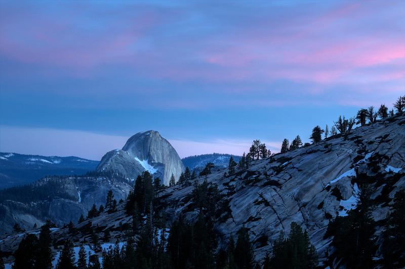 Half Dome at sunset