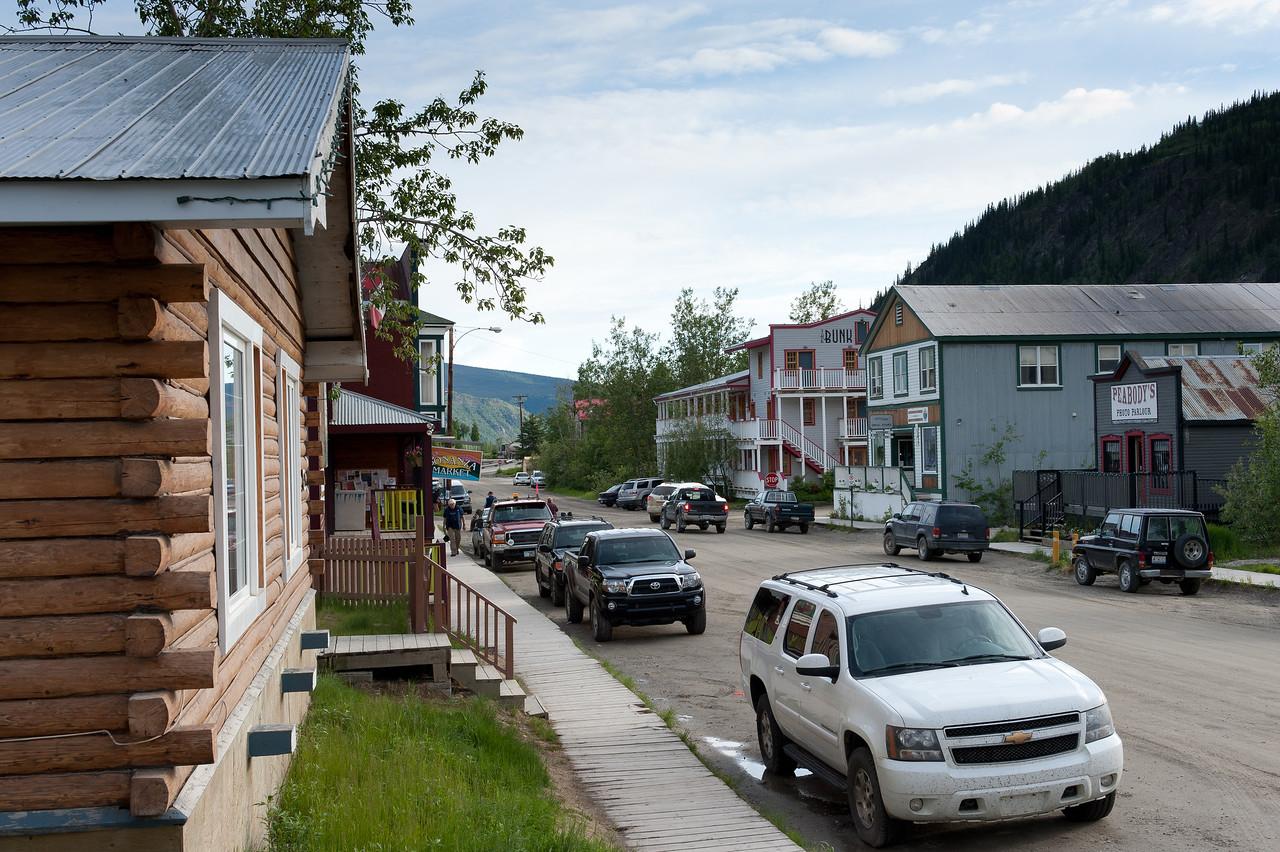 Street scene in Dawson City, Yukon, Canada