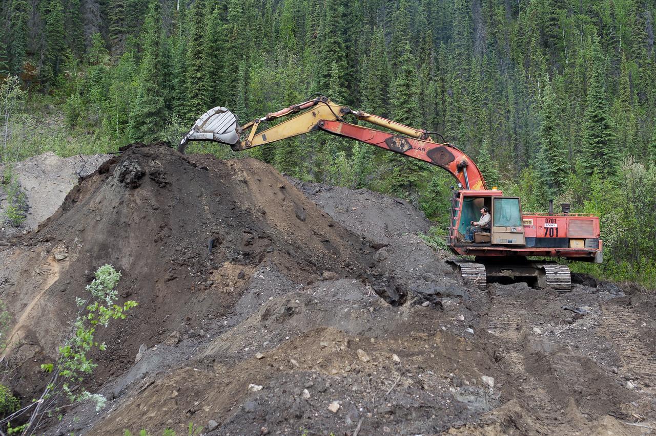 Placer mine operation in Dawson City, Yukon, Canada