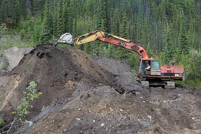 Placer mine operation in Dawson City, Yukon, Canada