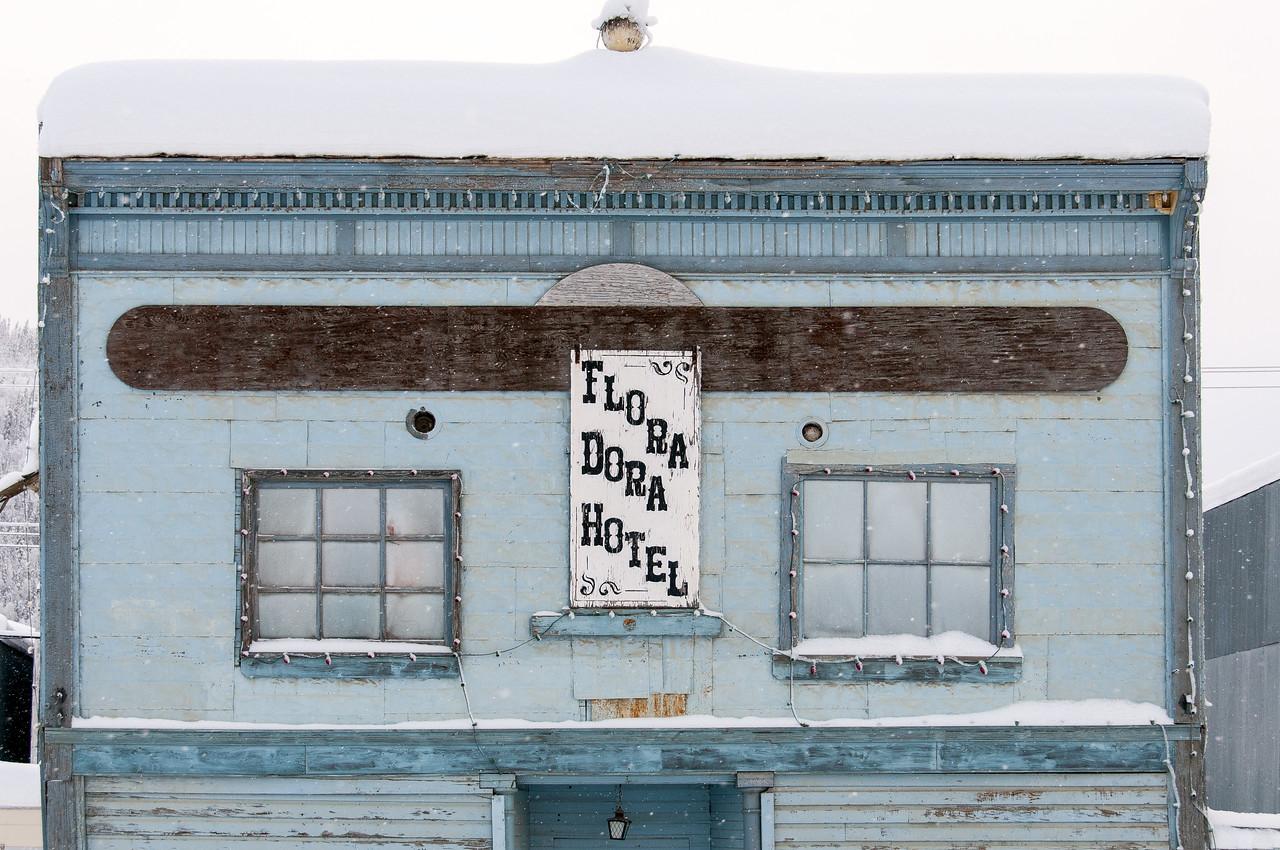Hotel facade in Dawson City, Yukon, Canada