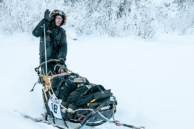 Musher in Dawson City, Yukon, Canada