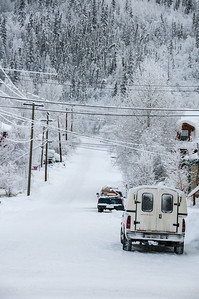 Dawson City during winter in Yukon, Canada