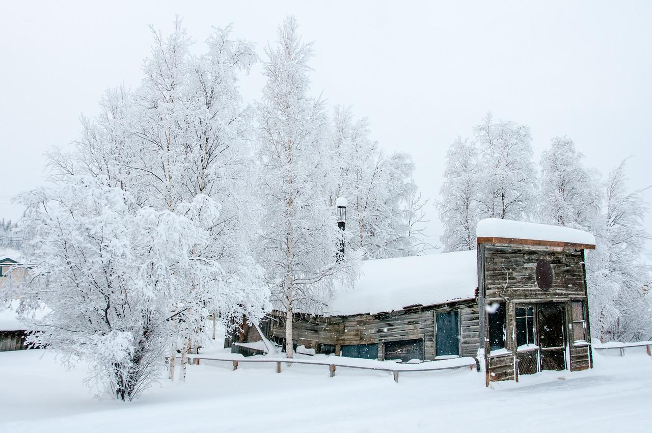 Winter in Dawson City, Yukon, Canada
