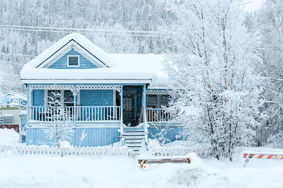 Winter in Dawson City, Yukon, Canada
