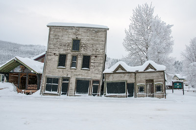"The ""Kissing Buildings"" in Dawson City, Yukon, Canada"