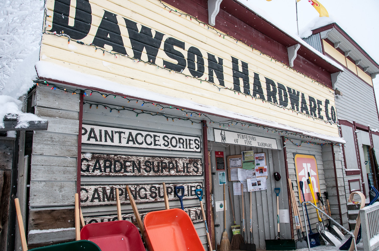 Hardware shop in Dawson City, Yukon, Canada