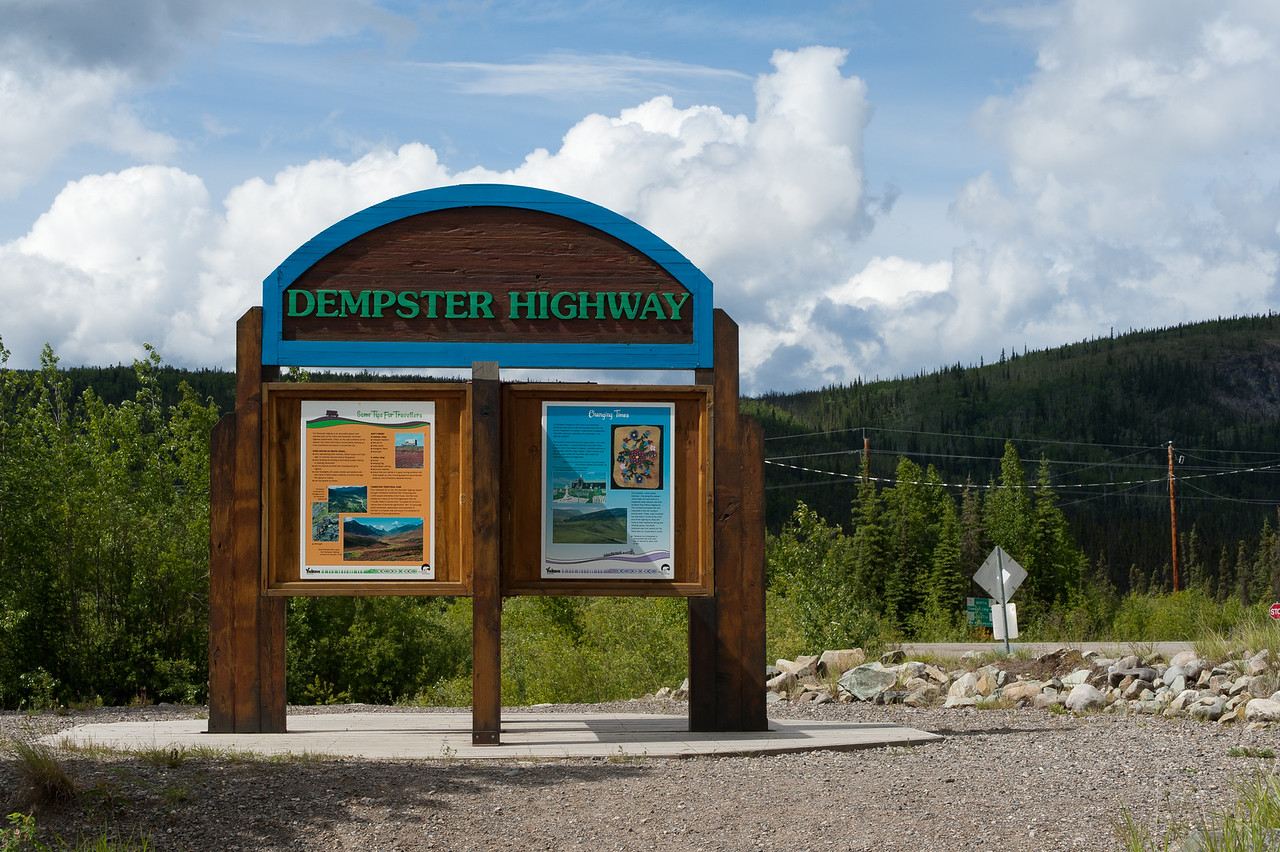 Dempster Highway in Yukon Territory, Canada