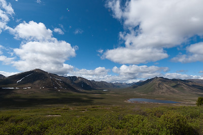 Olgivie Mountain in Dempster Highway, Yukon, Canada