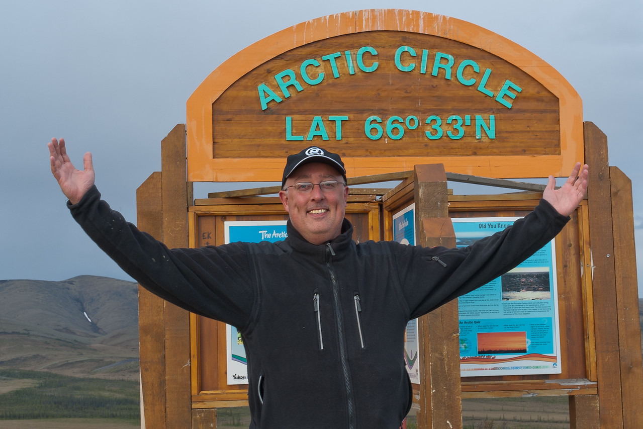 The Arctic Circle along Dempster Highway in Yukon, Canada
