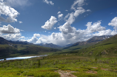 Ogilvie Mountains in Dempster Highway, Yukon, Canada