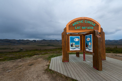 The Arctic Circle along the Dempster Highway, Yukon Territory, Canada