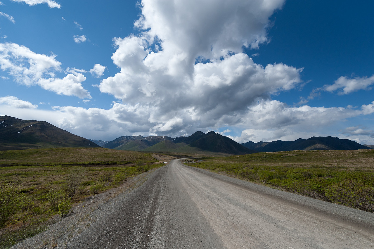 Dempster Highway in Yukon, Canada