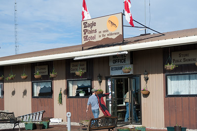 Eagle Plains Hotel along Dempster Highway in Yukon, Canada