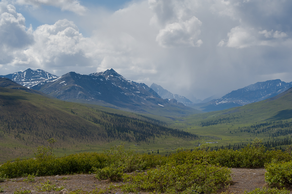 Tombstone Mountain in Tombstone Territorial Park, Yukon