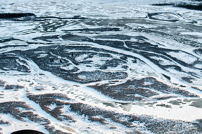 Aerial view of Kluane National Park, Yukon, Canada