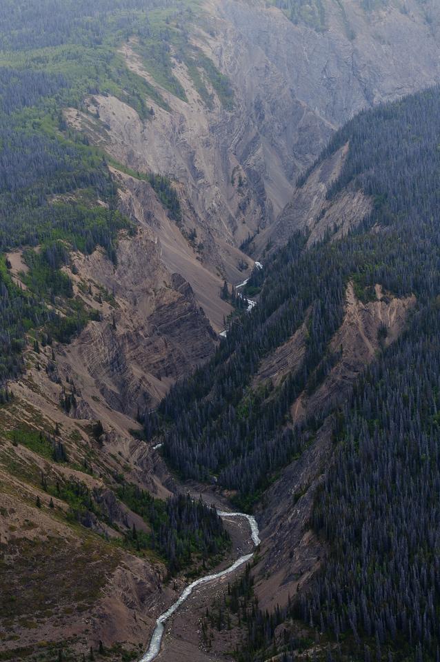 Aerial view of Kluane National Park, Yukon, Canada