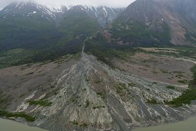 Aerial view of Kluane National Park - Yukon, Canada