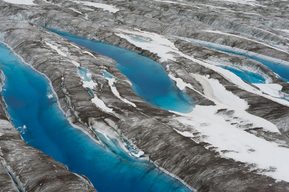 Blue Glacial Pools in Kluane National Park