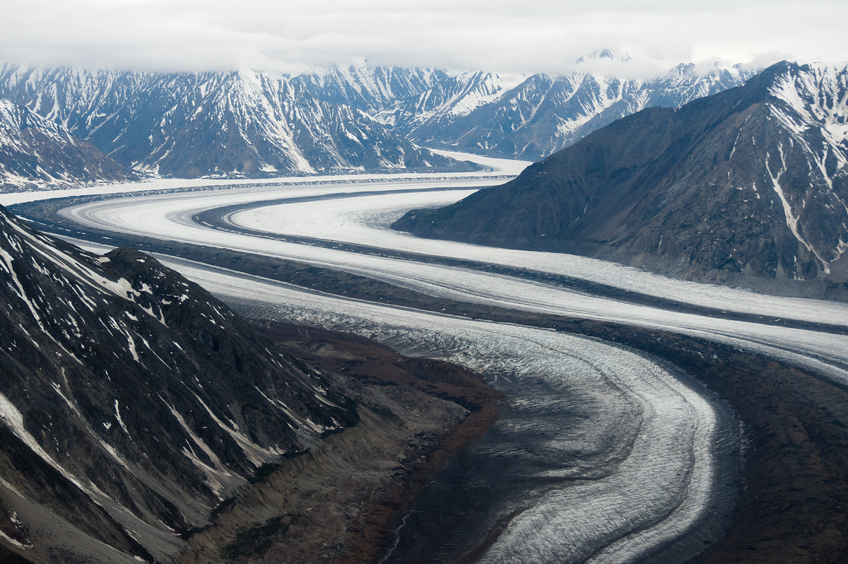 A mountain glacier in Kluane National Park, Yukon Territory