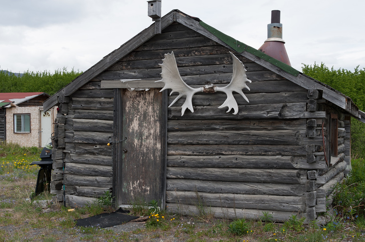 Log cabin at Kluane National Park, Yukon, Canada