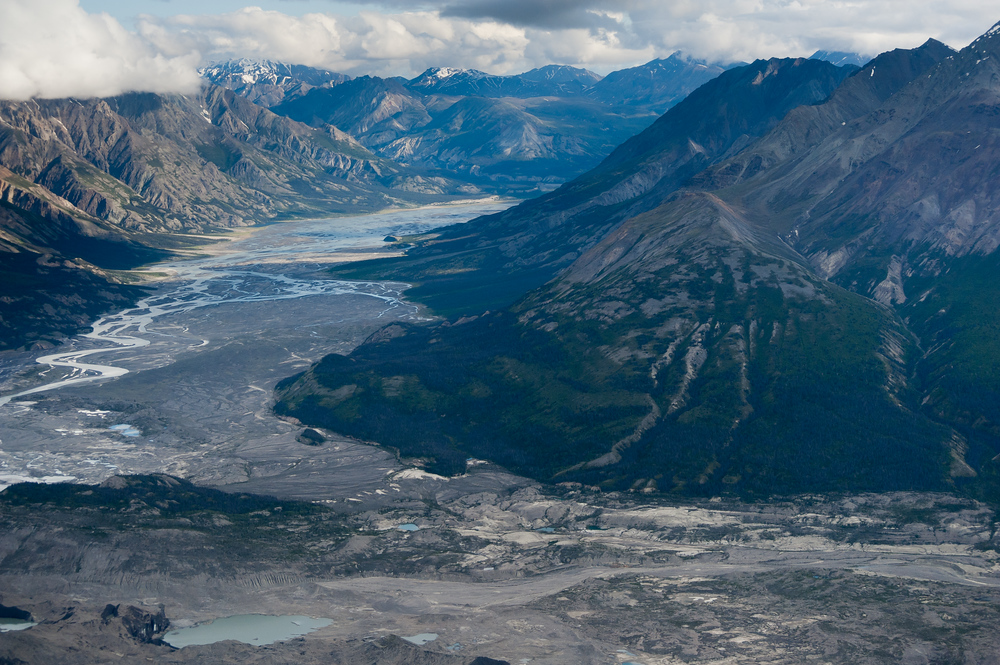 River valley in Kluane National Park, Yukon Territory, Canada