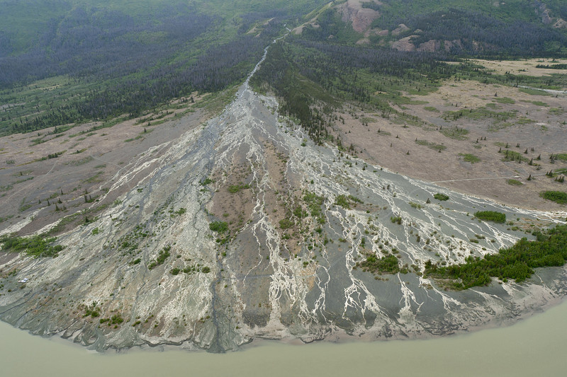 Aerial view of Kluane National Park - Yukon, Canada