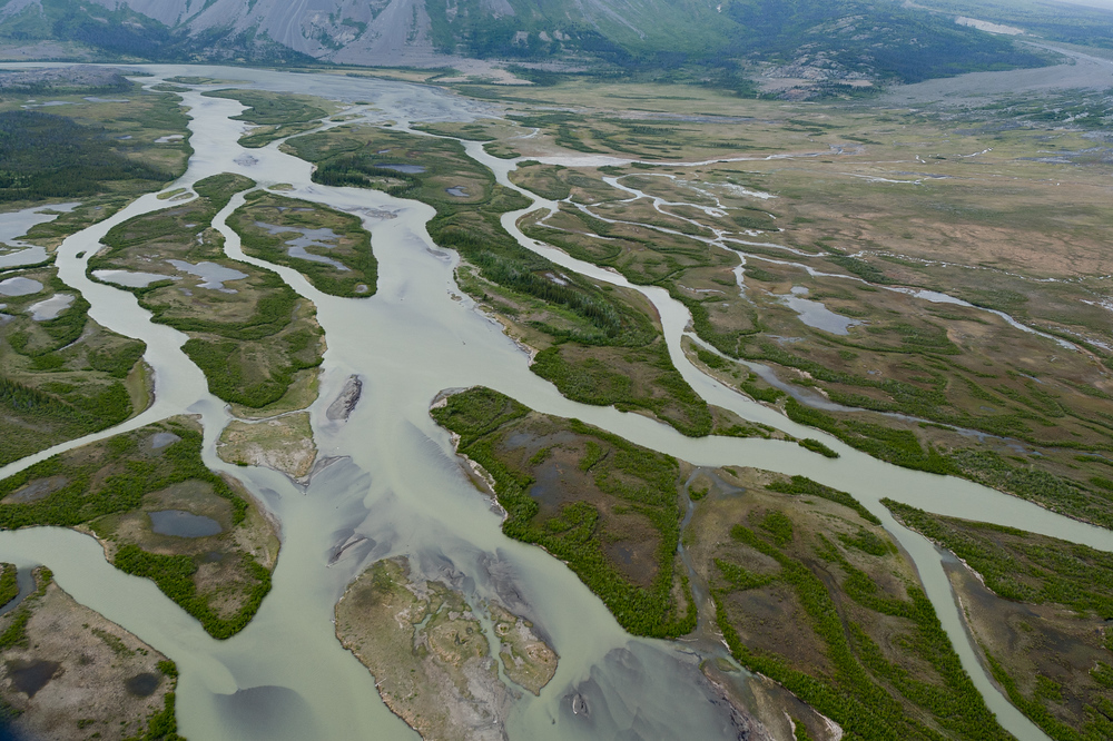 Glacial rivers in Kluane National Park, Yukon, Canada