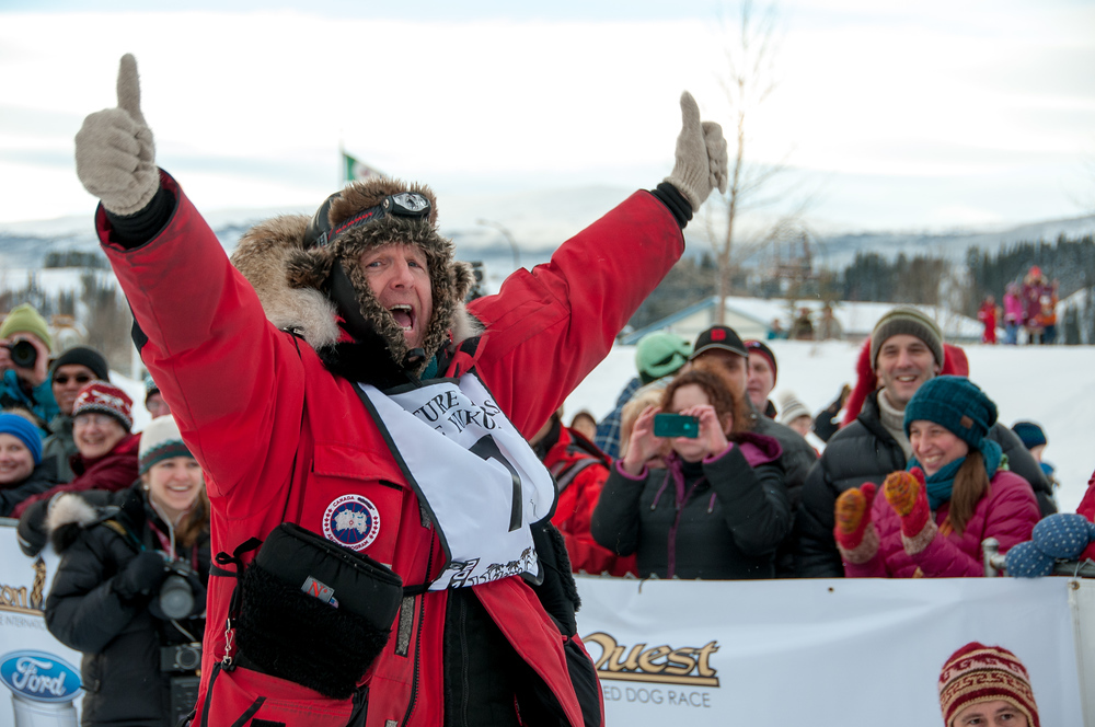 Musher at the Starting Line of the 2013 Yukon Quest