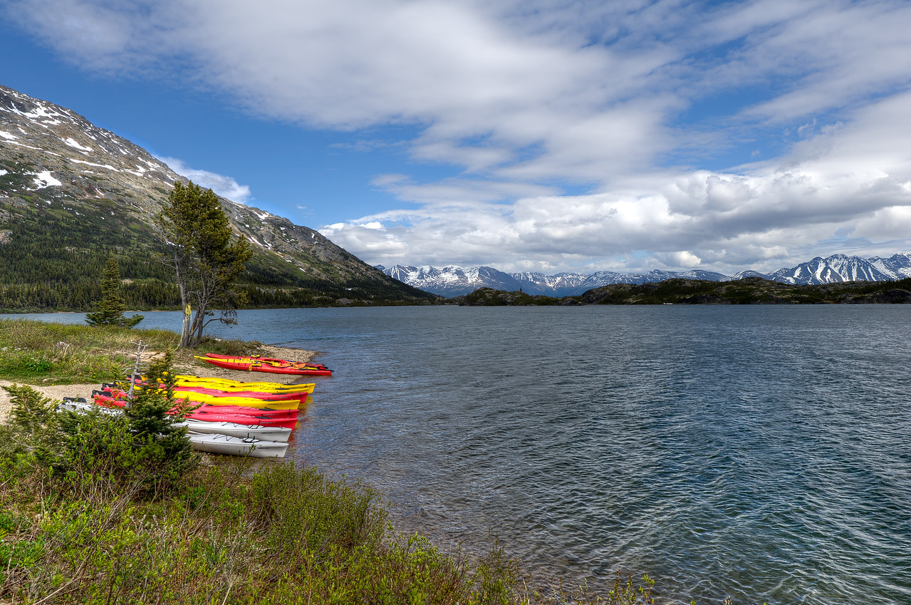 Yukon River in Whitehorse, Yukon, Canada