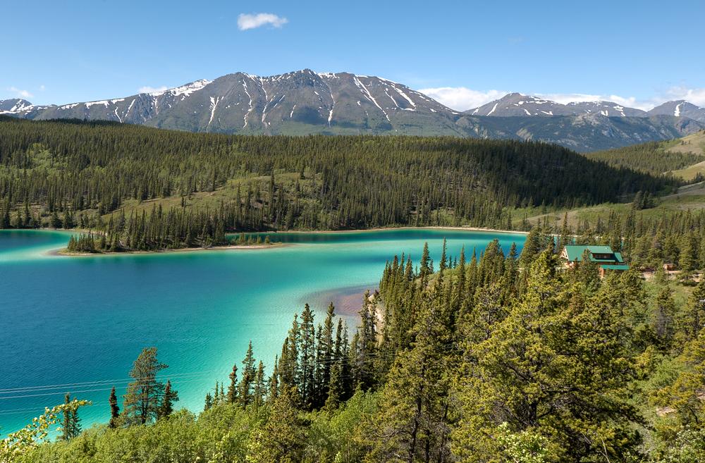 Emerald Lake in the Yukon Territory, Canada