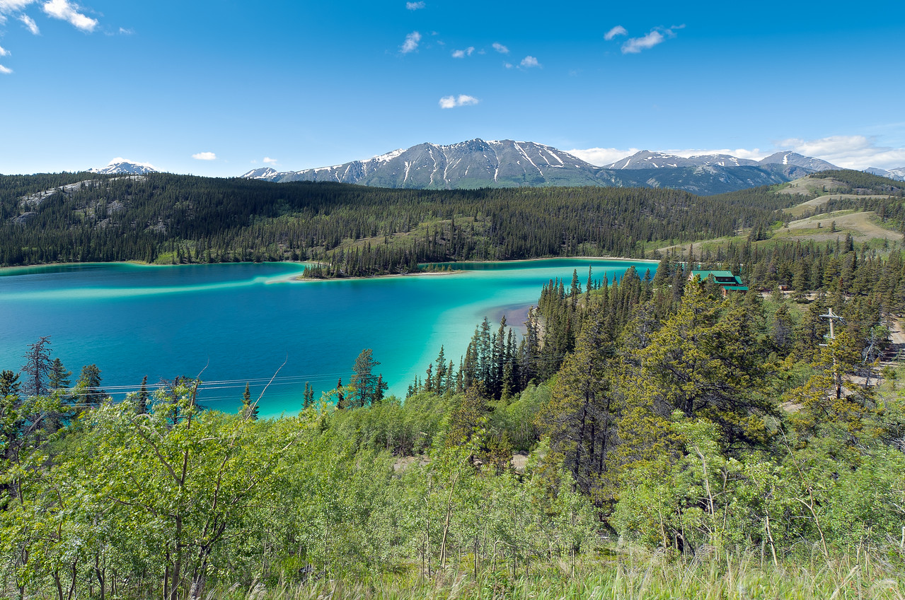 Emerald Lake in Whitehorse, Yukon, Canada