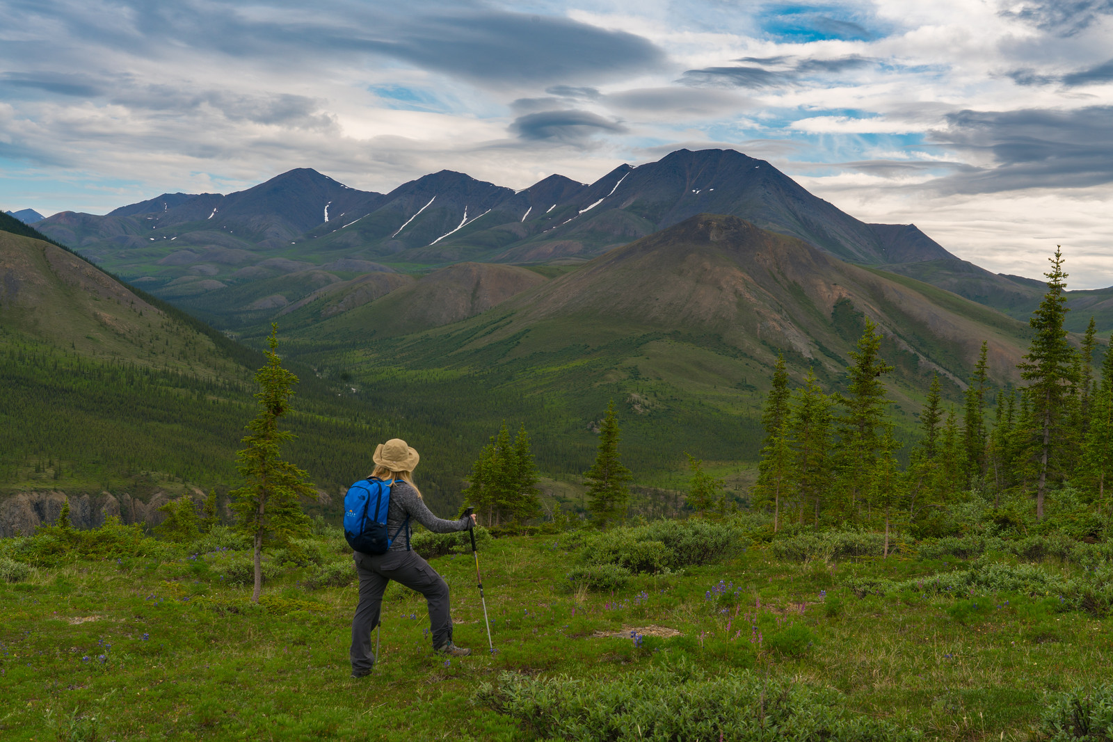 Enjoying the beauty of the far reaches of the Yukon, Canada