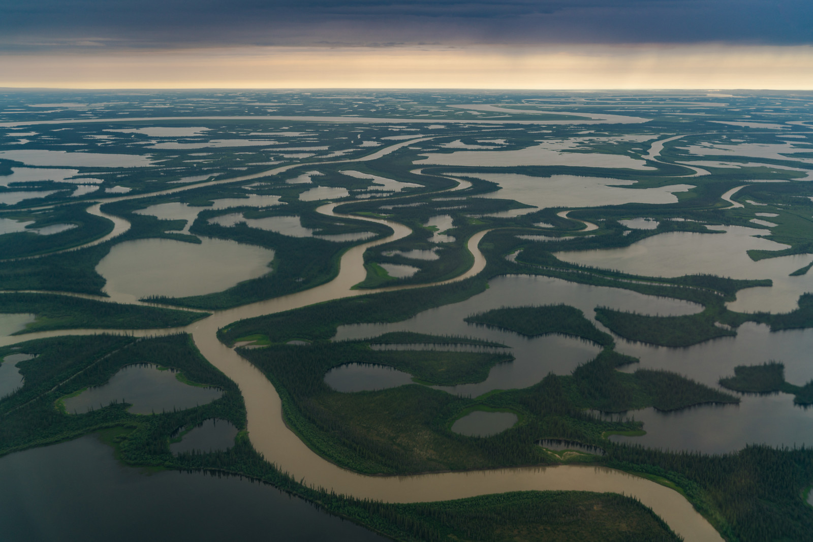 The Mackenzie Delta on our way to the Yukon, Canada