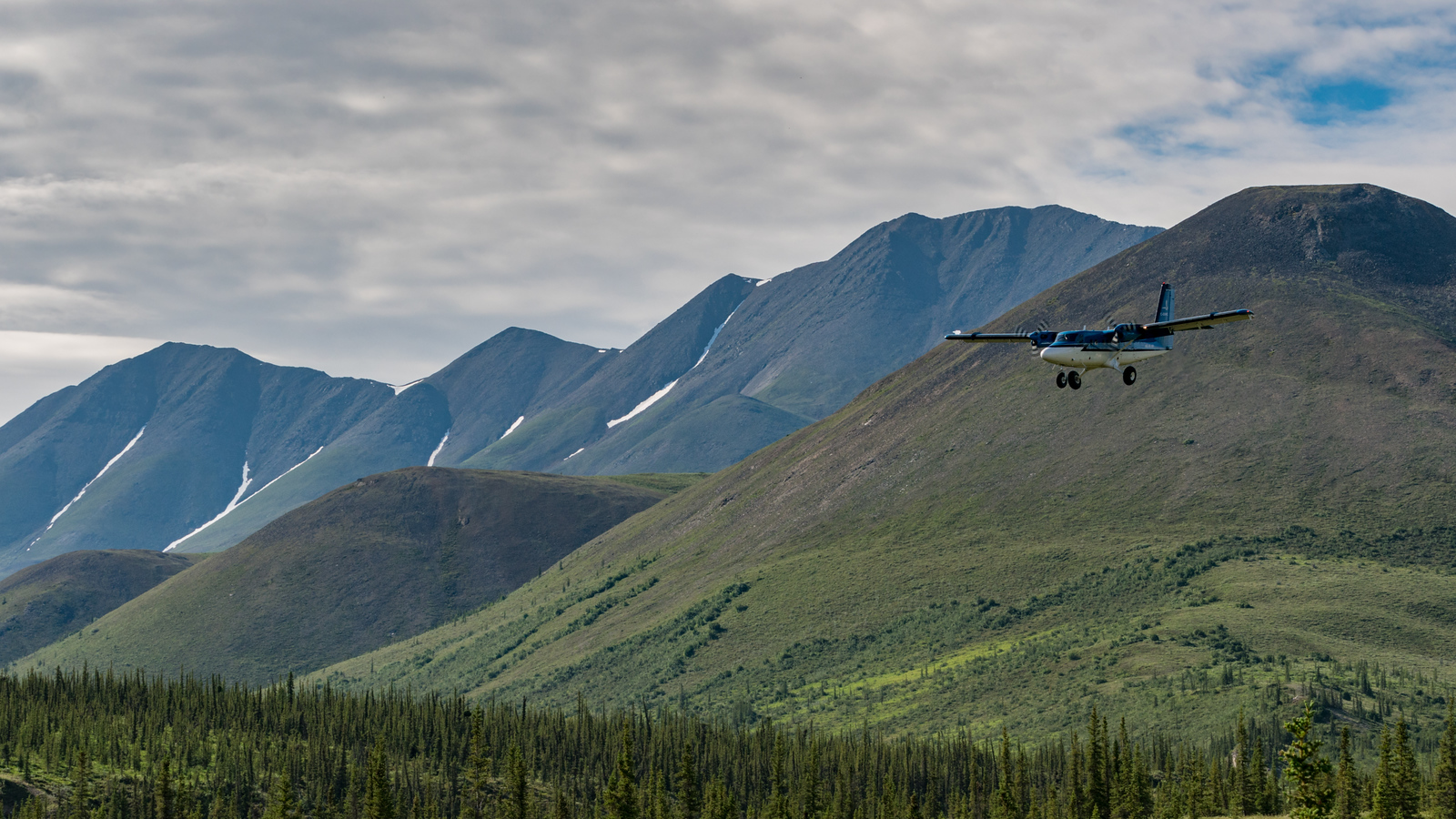 Flying into Inuvvik National Park in the Yukon, Canada