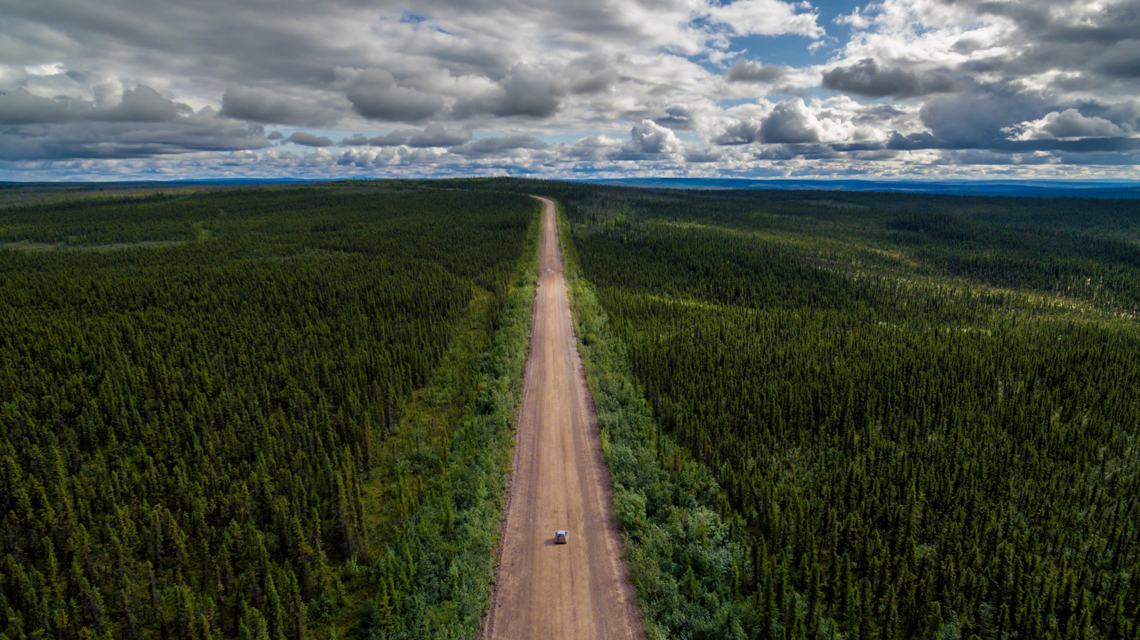 Looking down the Dempster Highway