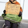 'Nam Vet, Air Cavalary, Busking, Manhattan, New York