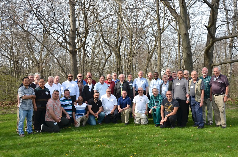 Participants at the May 7-11, 2018 Dehonian Retreat at the Siena Center in Racine, WI