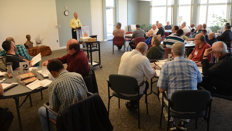 """Fr. Jim Schroeder leads a reflection on the theme """"United in the Love of Christ."""""""