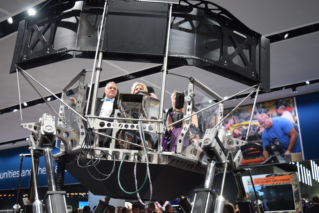 . Guests of the NAIAS Charity Preview party on Friday took advantage of the opportunity to try out Ford\'s Ranger simulator. MITCH HOTTS - THE MACOMB DAILY.