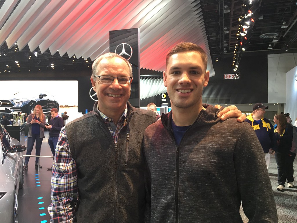 . Al and David Campanella of Philadelphia have been attending the NAIAS since David was 12-years-old. He\'s 28 now and an architect who follows design trends. GINA JOSEPH -THE MACOMB DAILY