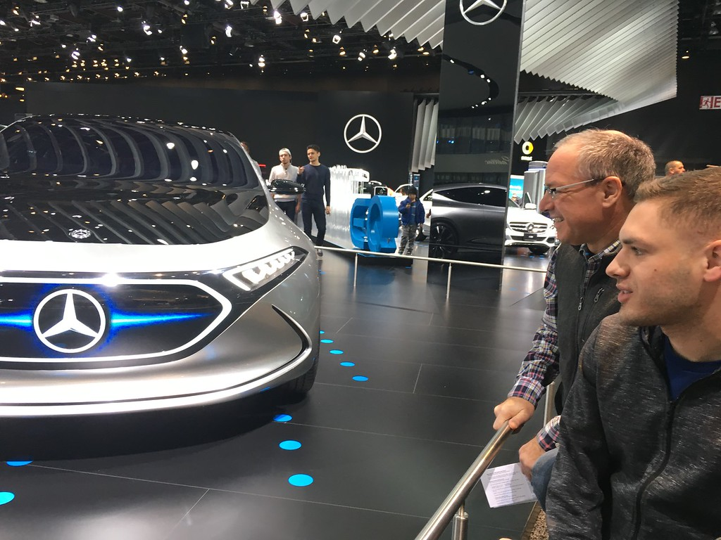 . Al Campanella and his son, David Campanella check out the Mercedes display at the NAIAS. The trip to Detroit\'s auto show is a father and son tradition for the Campanella\'s of Philadelphia. GINA JOSEPH - THE MACOMB DAILY