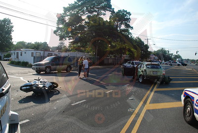 North Amityville Fire Co. Motorcycle MVA w/ Medevac Rt.110 and Harrison Ave. 7/1/09