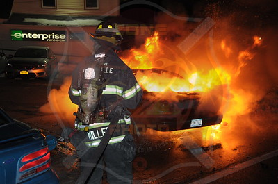 North Amityville Fire Co. MVA w/ Signal 14  Sunrise Hwy. and Albany Ave. 2/1/15