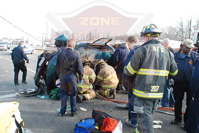 North Amityville Fire Co. Fatal MVA w/ Overturn and Entrapment on Sunrise Hwy. 1/15/08