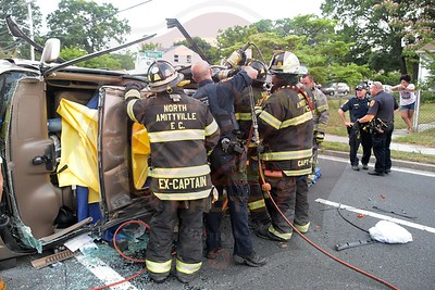 North Amityville Fire Co. MVA w/ Overturn and Entrapment    New Hwy. and Walnut Rd.   7/14/18