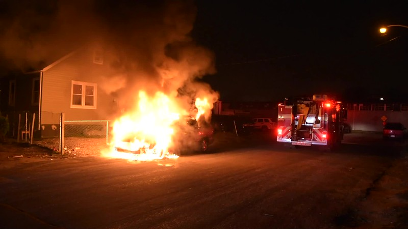 North Amityville Car Fire- Paul Mazza