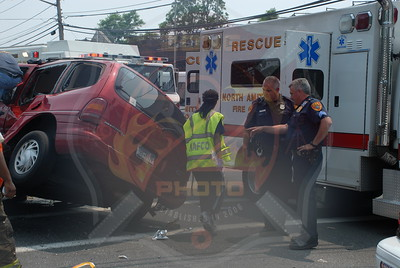 North Amityville Fire Co. MVA w/ Semi Overturn and Semi Entrapment Brefni St. and Rt.110 6/27/10