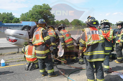 North Babylon Fire Co. MVA w/ Overturn and Entrapment Sunrise Hwy. and Route 231 6/21/14