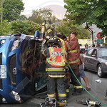 North Babylon Fire Co. MVA w/ Overturn and Entrapment Pickwick Ln. and Cantebury  Ln. 7/29/14